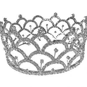 Couronne de cheveux style diamant et fleurs