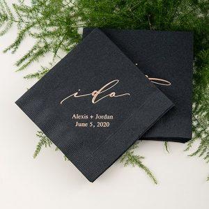 Napkin de papier personnalisé et Originaux