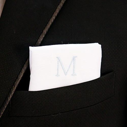 100/% coton brodé personnalisé mouchoir initiales nom cadeau homme femme
