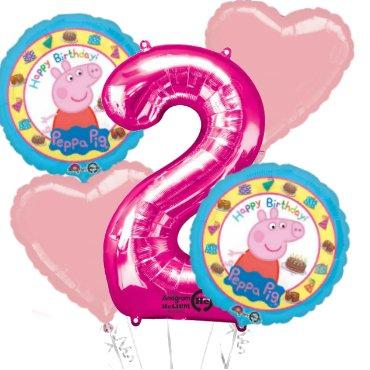 Peppa Pig Fête Faveur Anniversaire Bouquet de ballons
