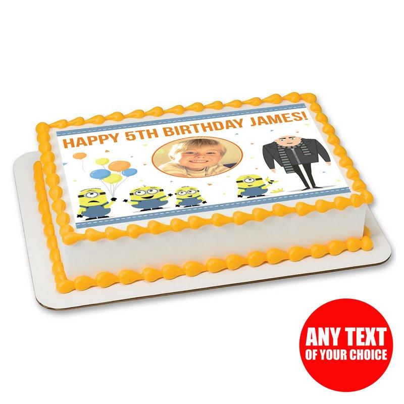 Dans la nuit de Jardin Rond Comestible Birthday Cake Topper Décoration Personnalisé