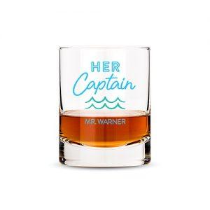 Verre à Whisky Personnalisé U2013 Son Capitaine Imprimé U2013 Mariage Déco Belle  Nuance