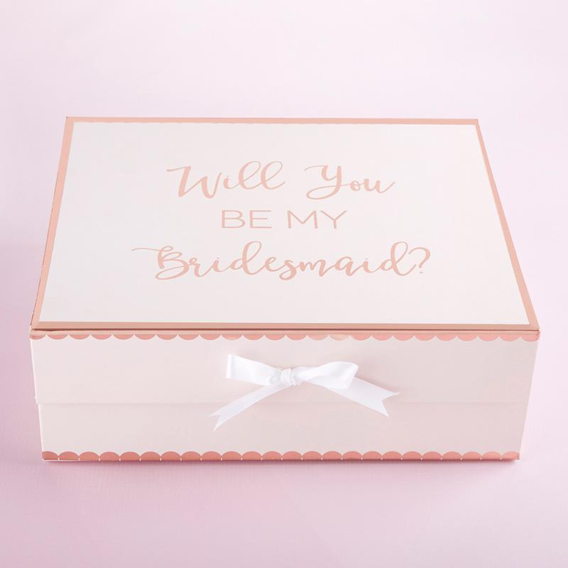 Veux-tu être ma demoiselle d/'honneur ruban blanc Souvenir Mémoire Boîte Cadeau Amour Mariage