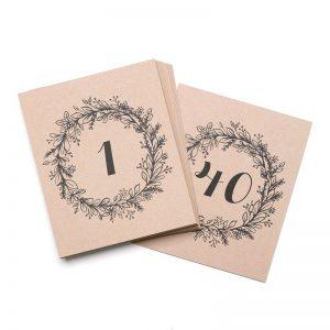 Numéro De Table Impression Sur Papier Impression Recto