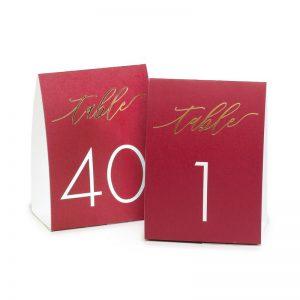 Numéro De Table Papier Style Tente