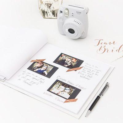 Livre D Or De Mariage En Acrylique Transparent Personnalise Pour Polaroid Rustique
