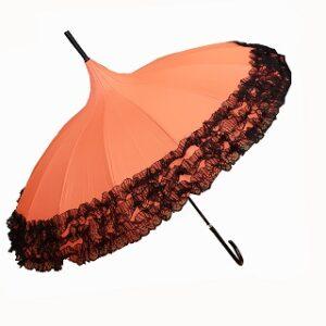 Parapluie Pagoda avec dentelle